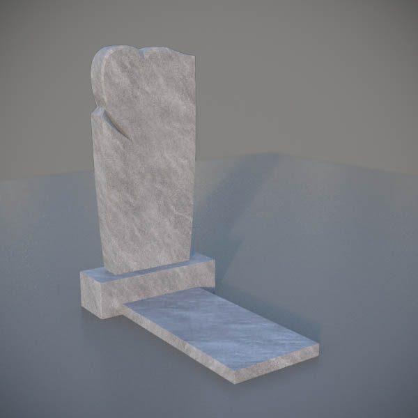 Мраморный памятник на могилу с резным сердцем MVS006-3