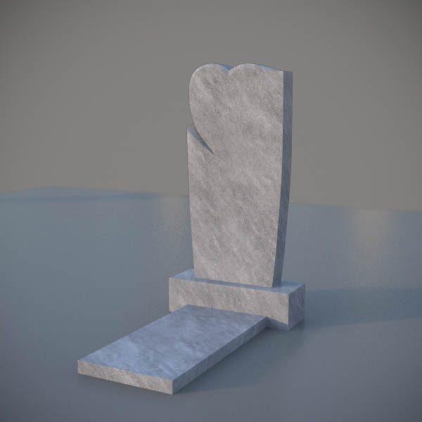Мраморный памятник на могилу с резным сердцем MVS006