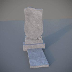 """Мраморный памятник на могилу с резной формой """"Тюльпан"""" MVT002-2"""