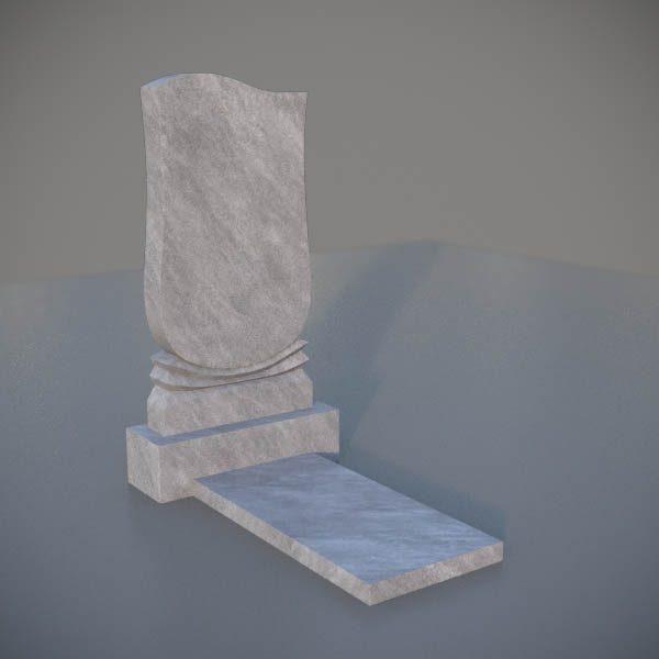 """Мраморный памятник на могилу с резной формой """"Тюльпан"""" MVT002-3"""