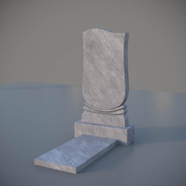 """Мраморный памятник на могилу с резной формой """"Тюльпан"""" MVT002"""