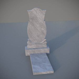 """Мраморный памятник на могилу с резной формой """"Тюльпан"""" MVT004"""
