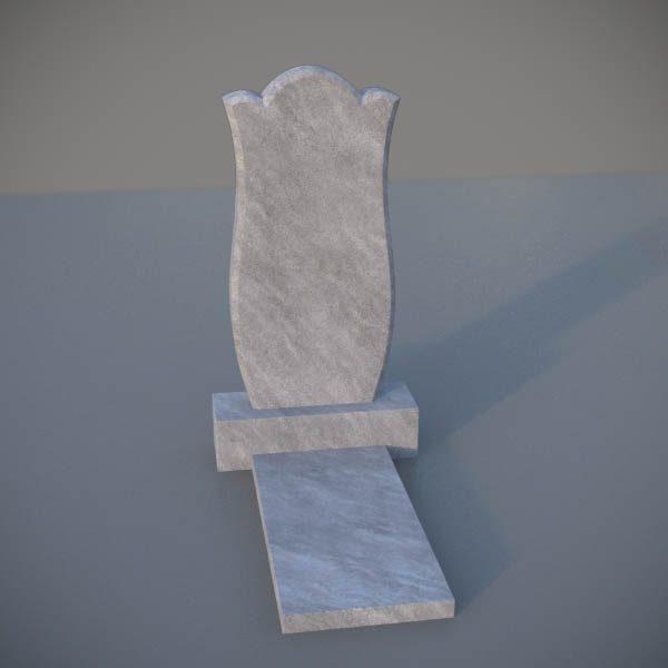 """Мраморный памятник на могилу с резной формой """"Тюльпан"""" MVT005-2"""