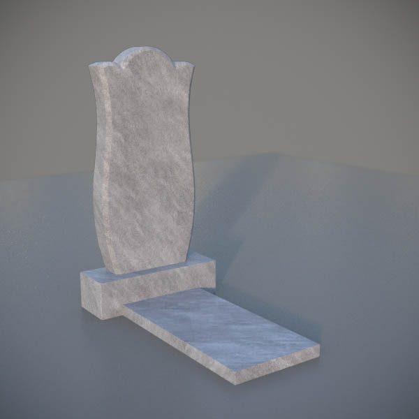 """Мраморный памятник на могилу с резной формой """"Тюльпан"""" MVT005-3"""