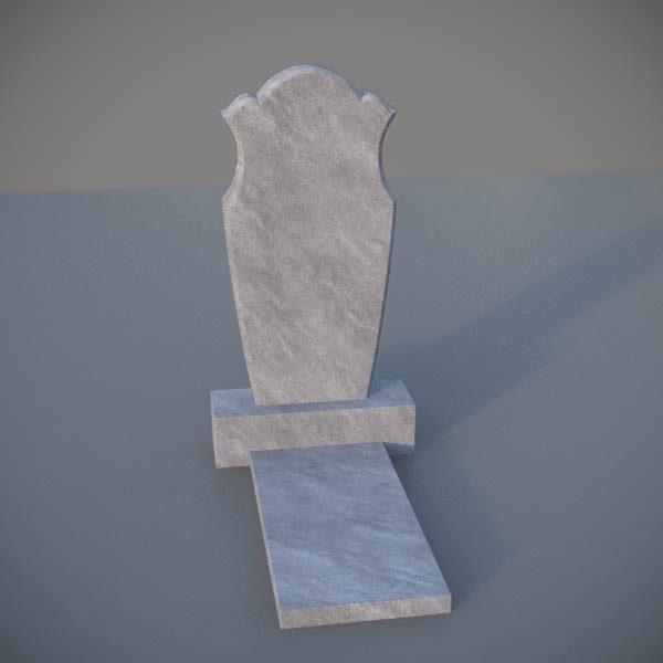 """Мраморный памятник на могилу с резной формой """"Тюльпан"""" MVT006-2"""
