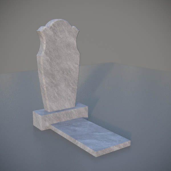 """Мраморный памятник на могилу с резной формой """"Тюльпан"""" MVT006-3"""