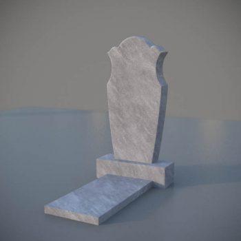 """Мраморный памятник на могилу с резной формой """"Тюльпан"""" MVT006"""
