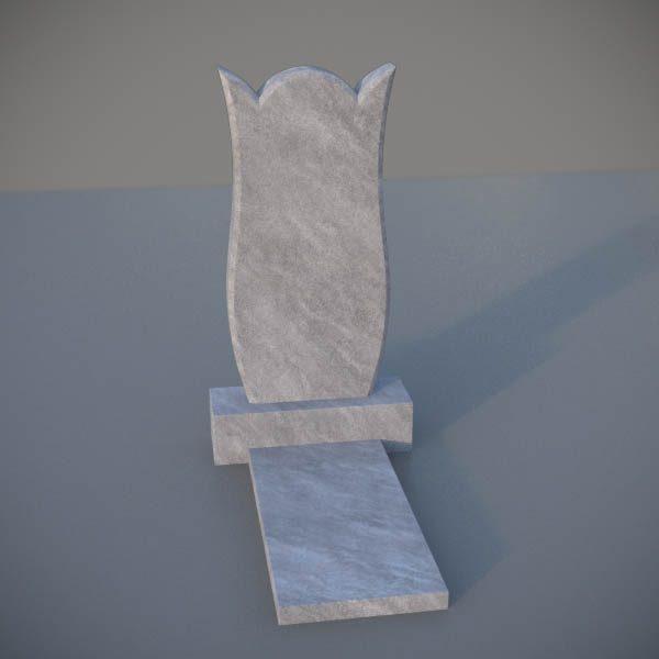 """Мраморный памятник на могилу с резной формой """"Тюльпан"""" MVT008-2"""