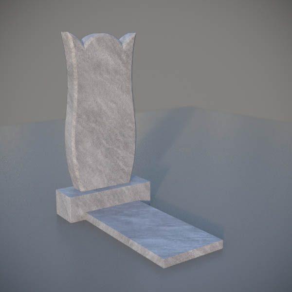 """Мраморный памятник на могилу с резной формой """"Тюльпан"""" MVT008-3"""