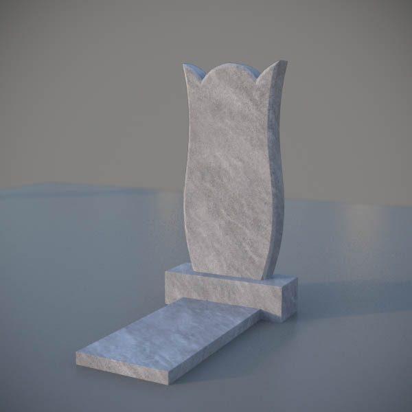 """Мраморный памятник на могилу с резной формой """"Тюльпан"""" MVT008"""