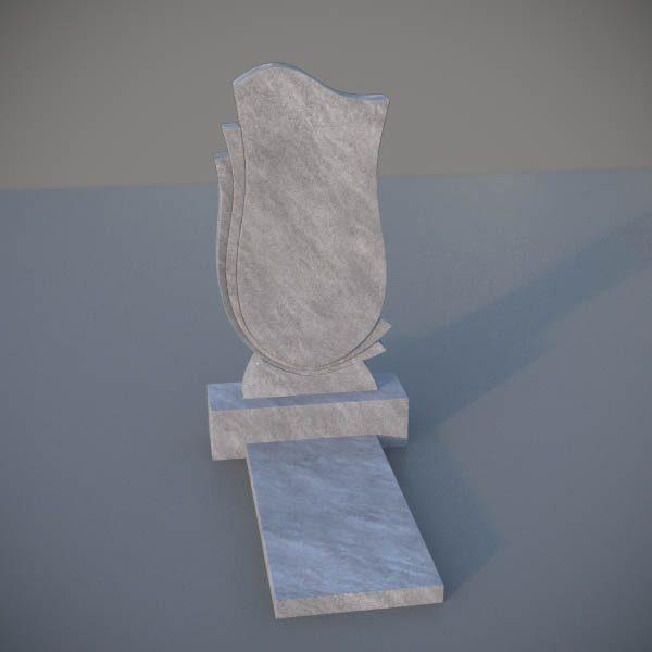 """Мраморный памятник на могилу с резной формой """"Тюльпан"""" MVT010-2"""