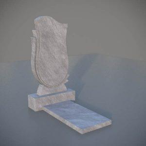 """Мраморный памятник на могилу с резной формой """"Тюльпан"""" MVT010-3"""