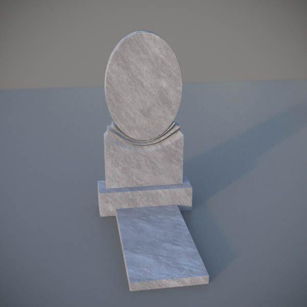 """Мраморный памятник на могилу с резной формой """"Зеркало"""" MVZ001-2"""