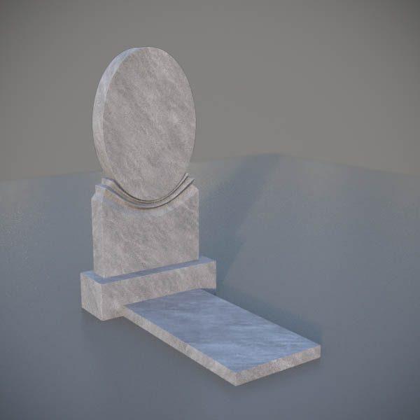 """Мраморный памятник на могилу с резной формой """"Зеркало"""" MVZ001-3"""