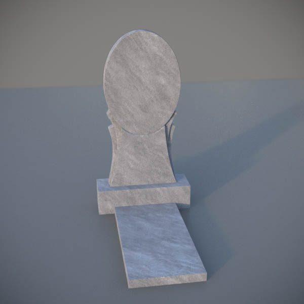 """Мраморный памятник на могилу с резной формой """"Зеркало"""" MVZ003-2"""