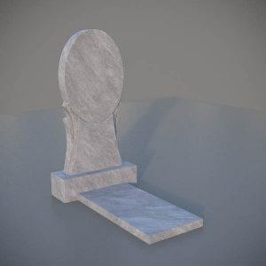 """Мраморный памятник на могилу с резной формой """"Зеркало"""" MVZ003-3"""