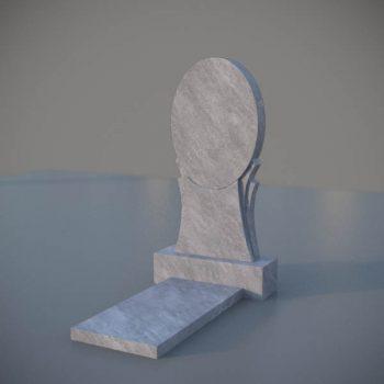 """Мраморный памятник на могилу с резной формой """"Зеркало"""" MVZ003"""