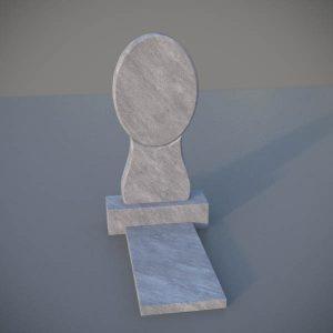 """Мраморный памятник на могилу с резной формой """"Зеркало"""" MVZ004-2"""