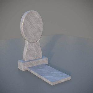 """Мраморный памятник на могилу с резной формой """"Зеркало"""" MVZ004-3"""