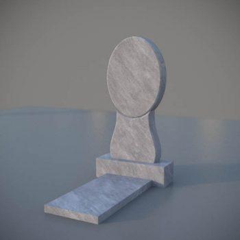 """Мраморный памятник на могилу с резной формой """"Зеркало"""" MVZ004"""