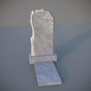 Мраморный памятник на могилу с резной березой MVD002-2