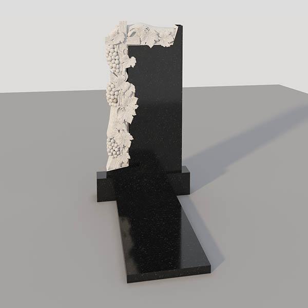 Памятник на могилу с фрезерованным виноградом GVF003-2