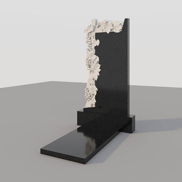 Памятник на могилу с фрезерованным виноградом GVF003