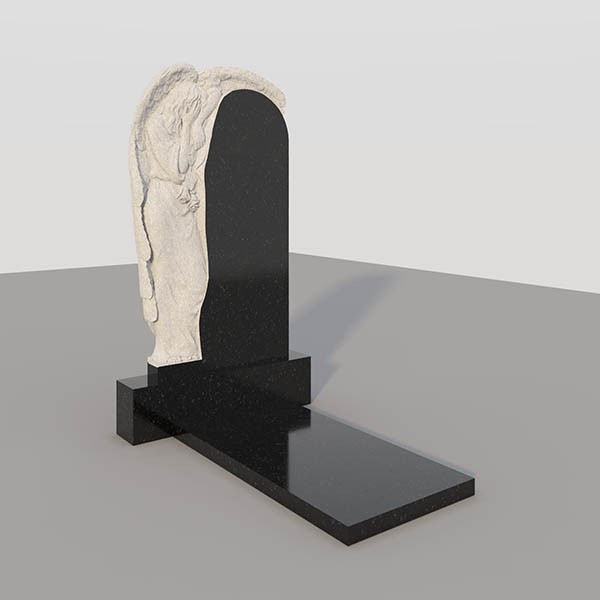 Памятник на могилу с фрезерованными ангелом GVF007-3