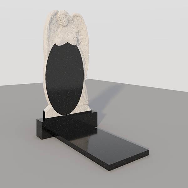 Памятник на могилу с фрезерованными ангелом GVF008-3